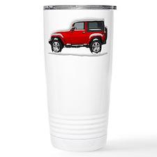 Snow Covered Jeep Wrangler Travel Mug