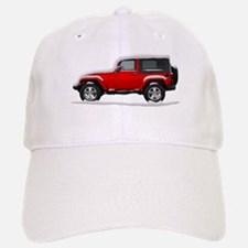 Snow Covered Jeep Wrangler Baseball Baseball Cap
