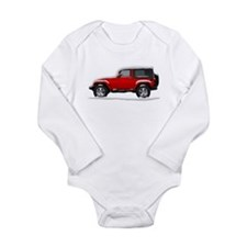 Snow Covered Jeep Wrangler Long Sleeve Infant Body