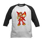Fire Fairy Kids Baseball Jersey