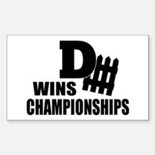Defence Wins Championships Decal