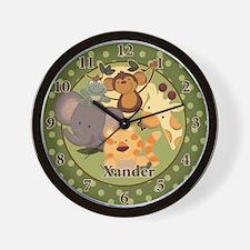 """Jungle Safari Wall Clock - """"Xander"""""""