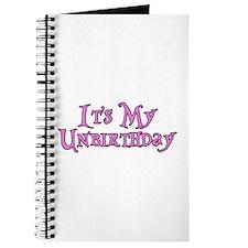It's My Unbirthday Alice in Wonderland Journal
