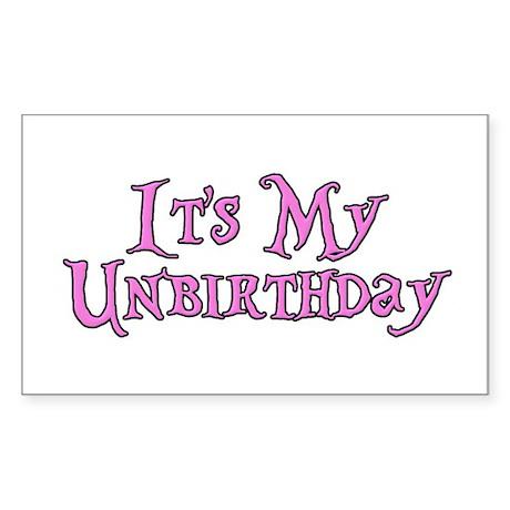 It's My Unbirthday Alice in Wonderland Sticker (Re