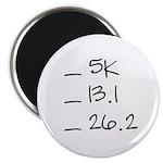 Running Goals Checklist Magnet