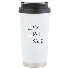 Running Goals Checklist Travel Mug