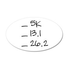 Running Goals Checklist 22x14 Oval Wall Peel