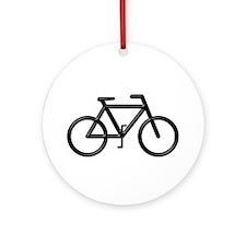 """Black Bike"" Ornament (Round)"