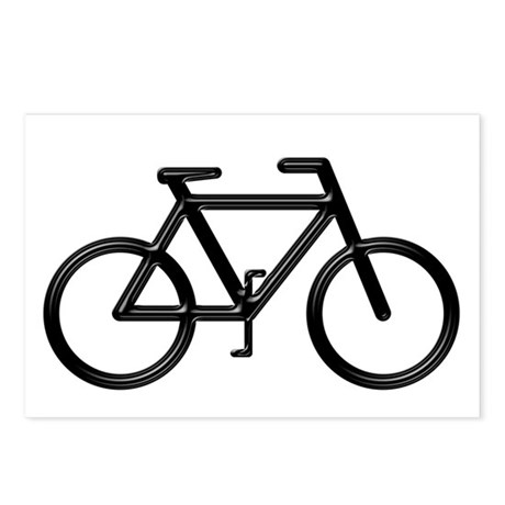 """Black Bike"" Postcards (Package of 8)"