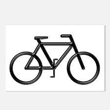 """""""Black Bike"""" Postcards (Package of 8)"""