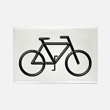 """Black Bike"" Rectangle Magnet"