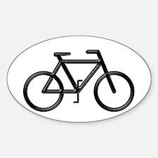 """""""Black Bike"""" Oval Decal"""