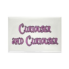 Curiouser and Curiouser Alice Rectangle Magnet
