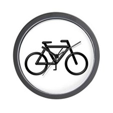 """Black Bike"" Wall Clock"