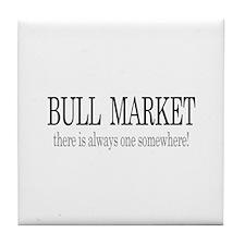 Bull Market Tile Coaster