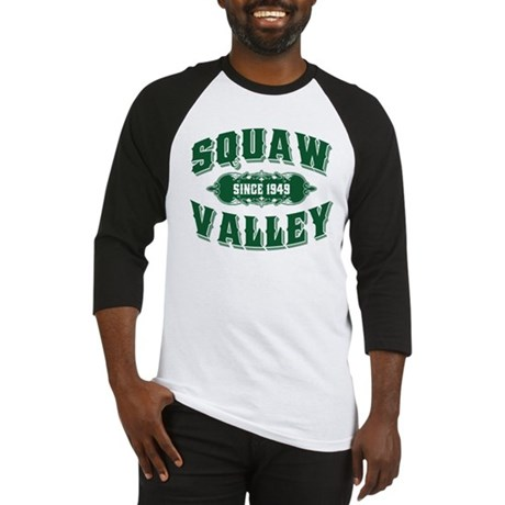 Squaw Valley Old Style Green Baseball Jersey