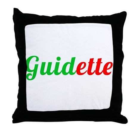 Guidette Throw Pillow