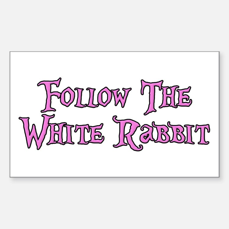 Follow The White Rabbit Decal