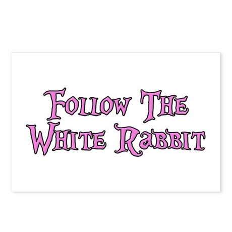 Follow The White Rabbit Postcards (Package of 8)