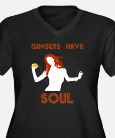 Female Gingers Have Soul Women's Plus Size V-Neck