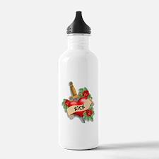 Rick's tatoo Sports Water Bottle