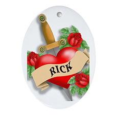 Rick's tatoo Ornament (Oval)