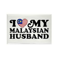 I Love My Malaysian Husband Rectangle Magnet