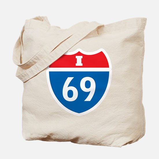 Interstate 69 I-69 Tote Bag