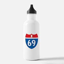 Interstate 69 I-69 Water Bottle