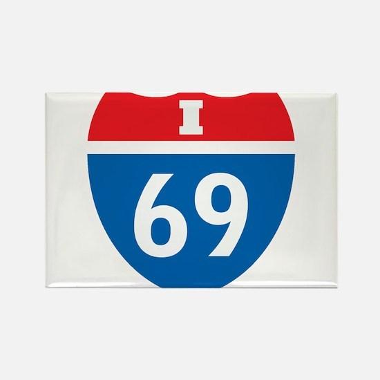 Interstate 69 I-69 Rectangle Magnet