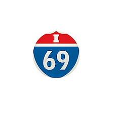 Interstate 69 I-69 Mini Button