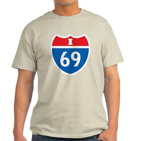 Interstate 69 I-69 Light T-Shirt