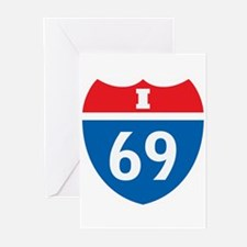 Interstate 69 I-69 Greeting Cards (Pk of 10)