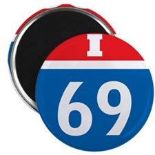 "Interstate 69 I-69 2.25"" Magnet (10 pack)"