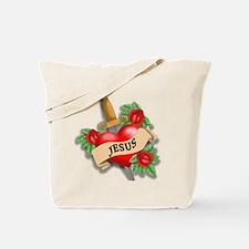 Jesus Tattoo Tote Bag