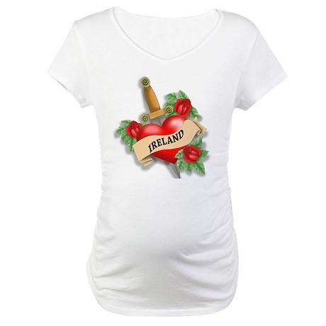Ireland Tattoo Maternity T-Shirt