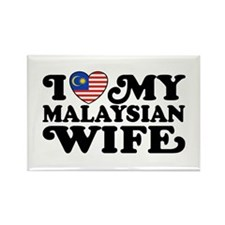 I Love My Malaysian Wife Rectangle Magnet