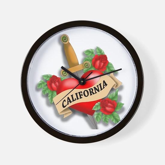 California Tattoo Wall Clock