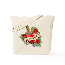 California Tattoo Tote Bag