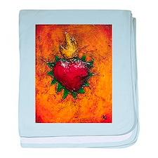 Sacred Heart 7 baby blanket