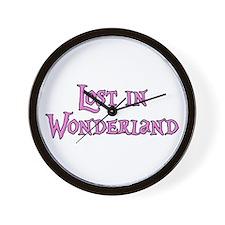 Lost in Wonderland Alice Wall Clock