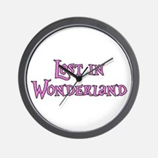 Lost in Wonderland Alice Wall Clock