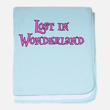 Lost in Wonderland Alice baby blanket