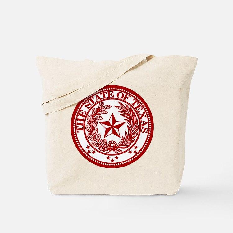 Cute Red texas seal Tote Bag
