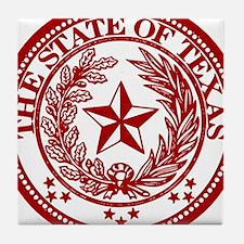 Cute Red texas seal Tile Coaster
