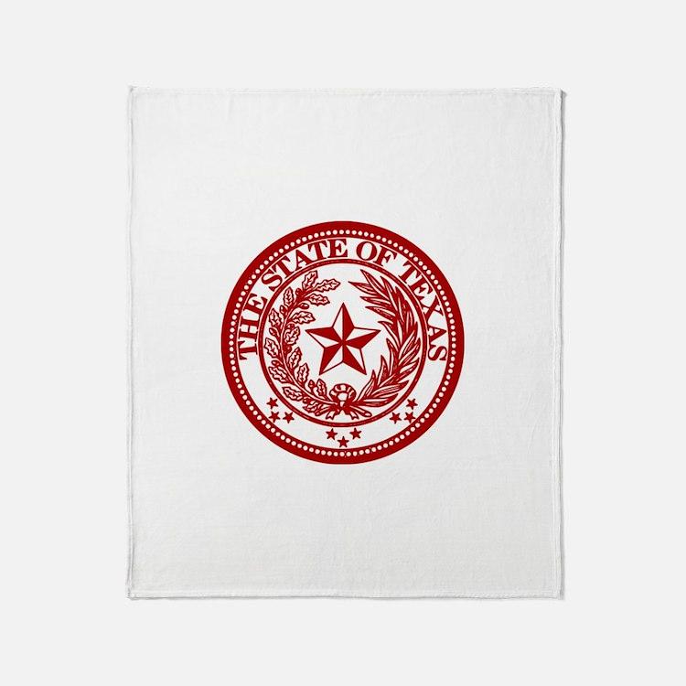 Cute Red texas seal Throw Blanket