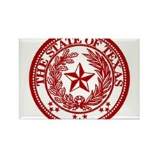 Cute Red texas seal Rectangle Magnet (10 pack)