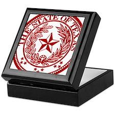 Cute Red texas seal Keepsake Box