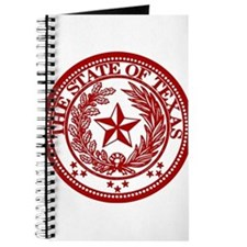 Cute Red texas seal Journal