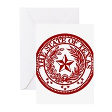 Cute Red texas seal Greeting Cards (Pk of 20)